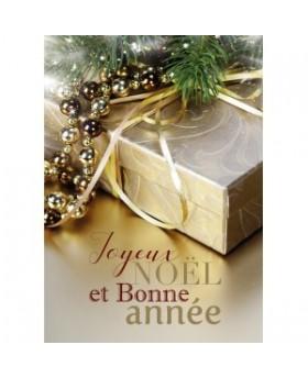 Carte Flash Fin D'annee Cadeau sous une branche de sapin