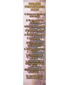 """Marque page """"Phrases prophétiques 2019"""""""