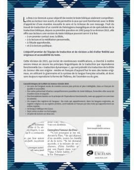 Bible, Version du Semeur 2015, textile souple tissu carreaux, tranche blanche [Relié] Couverture textile semi-souple bleue