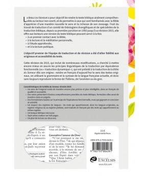 Bible, Version du Semeur 2015, textile rigide fleurs, tranche blanche [Relié]